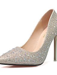 Women's Heels Glitter Office & Career Stiletto Heel Sparkling Glitter Black / Blue / Pink / Silver / Gray / Gold Others