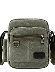 Men Shoulder Bag Canvas Casual Black Brown Army Green Khaki