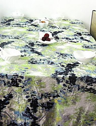 New Classical Ink Painting Cotton Table Cloth Side Table Cloth Refrigerator Cover Cloth (140 * 140cm)