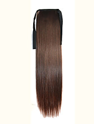 Marron Synthetic Queue de cheval Droit (Straight) Micro Ring Hair Extensions Queue de cheval 16inch gramme Moyen (90g-120g) Quantité