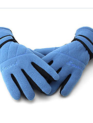 Extended Thickened Bicycle Riding Gloves Motorcycle Fleece Gloves Warm Full Finger Gloves