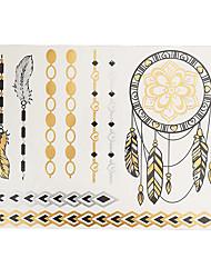 1 Tatouages Autocollants Séries bijoux Non Toxic / Motif / Waterproof / Metallic / FlashHomme / Adulte flash TattooTatouages