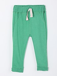 Girl's Casual/Daily Solid Pants,Cotton Fall Green
