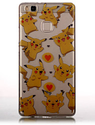 TPU Material + IMD Technology Pikachu Pattern Painted Relief Phone Case for Huawei P9 Lite/P9/P8 Lite