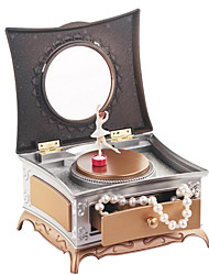 Dresser For Elise  Music Box Plastic Dresser Red / Silver / Gold