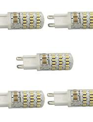4 G9 Luminárias de LED  Duplo-Pin T 4 COB 400 lm Branco Quente / Branco Frio Regulável AC 220-240 V 5 pçs