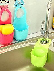 Single Home Kitchen Bathroom Gadget Hanging Plastic Storage Box(Random Color)