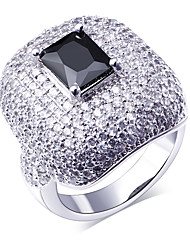 Clear stone ring New deisign ring with stone Made with aaa Cubic Zirconia Pave Setting Lead Free Platinum Plated