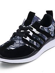 Unisexe-Décontracté-Noir / Bleu / Rouge-Talon Plat-Confort-Sneakers-Synthétique