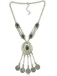 Women's Choker Necklaces Statement Necklaces Alloy Flower Drop Fashion Carved Black Blue Jewelry Daily Casual 1pc