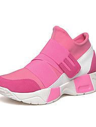 Women's Sneakers Fall Fabric Athletic Flat Heel Others Black Pink Red Other