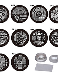 Nail Art Stamping Plate Стампер скреперов 9*9*6