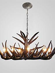 vintage Antler chandelier lighting Industrial Fixture Country 9-Lights Fit for Living Room Dining room Easy Installation