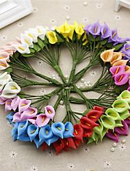 1 Ramo Plástico Lírios Flor de Mesa Flores artificiais