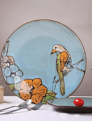 Birds and flowers of Spring Hand-painted Ceramic Plate