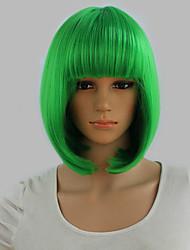 Short Wigs New Synthetic Bob Wigs Short Straight Highlight Hair Apple Green Bobo Wig For Women Glamorous Fashion