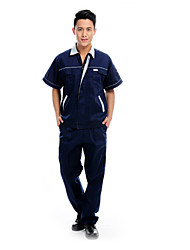 Summer Short-Sleeved Overalls Suit Male Engineering Services Protective Clothing (Size:175)