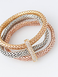 Wrap Bracelets 1set,Golden / Rose / Silver Bracelet Fashionable Circle 514 Alloy Jewellery
