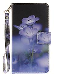 Для Кейс для LG Бумажник для карт / Кошелек / со стендом / Флип / С узором Кейс для Чехол Кейс для Цветы Твердый Искусственная кожа LGLG