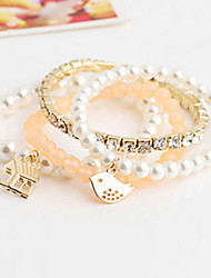 Women Alloy Golden Bird Strand Bracelets