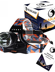 U`King® Headlamps Headlamp Straps LED 3000LM Lumens 3 Mode Cree XM-L T6 18650 Rechargeable Compact Size High Power Camping/Hiking/Caving