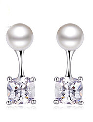 Earring White Pearl Jewelry 1 pair Fashionable Silver Daily / Casual