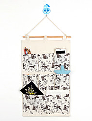 Eight Pockets Behind The Door Navy style Home Furnishing Storage Bag Random Colors