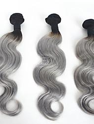 Menschenhaar spinnt Brasilianisches Haar Große Wellen 3 Monate 3 Stück Haar webt