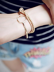 Chain Bracelets 1pc,Golden Bracelet Vintage Circle 514 Alloy Jewellery