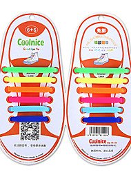 Coolnice  kid's no tie shoelace eco-friendly silicone elasticity Fashion Lazy shoelace(Be applicable 25-30 CN shoe size)