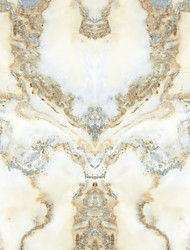 JAMMORY Wallpaper For Home Wall Covering Canvas Adhesive required Mural White Jade Pattern3XL(14'7''*9'2'')
