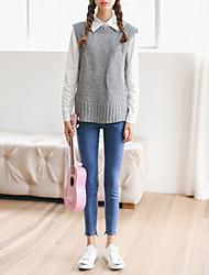 Damen Hose - Einfach Jeans / Schlank Polyester Mikro-elastisch