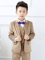 Polester/Cotton Blend Ring Bearer Suit - 5 Pieces Includes  Jacket / Shirt / Vest / Pants / Bow Tie