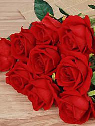 1 1 Rama Poliéster Rosas Flor de Mesa Flores Artificiales 51cm
