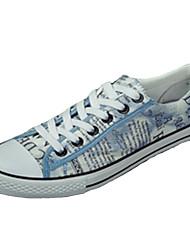 Femme-Décontracté-Noir / Bleu / Marron-Talon Plat-Confort-Sneakers-Tissu