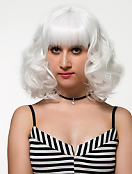 Short white hair, European and American fashion wig.