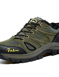 Коричневый / Зеленый / Серый-Унисекс-На каждый день-Замша / Полиуретан-На плоской подошве-Удобная обувь-Кеды
