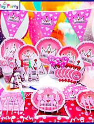 Birthday PartyDecorations-16Piece/Set Tissue Paper Decoration Birthday Vintage Theme PinkSpring / Summer / Fall