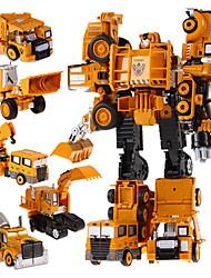 5 en 1 super-voitures robots jouets héros de transformation d'action robot de plastique enfants jouets pour les garçons
