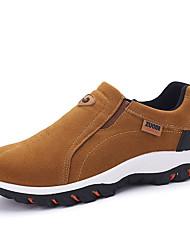 Men's Loafers & Slip-Ons Spring / Fall Comfort Suede Casual Flat Heel Slip-on Black / Gray / Khaki Walking