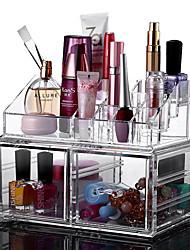 2016 New Portable Transparent Acrylic Cosmetic Organizer Drawer Makeup Case StorageInsert Holder Box
