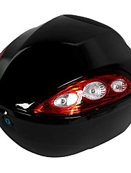 Black Red Hard Plastic Motorcycle Trunk Luggage Storage Case Tail Box