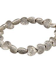 Femme Chaînes & Bracelets Bracelets Rigides Alliage Cœur Mode Classique Forme de Coeur Bijoux Amour Argent Bijoux 1pc