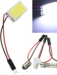 10pcs 18 водить початка чип BA9S белый автомобиль авто свет панель интерьер чтения карты Лампа купола фестона (DC12V)