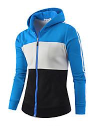 Pull à capuche & Sweatshirt Pour des hommes Mosaïque Décontracté / Sport / Grandes Tailles Coton Manches longuesNoir / Bleu / Vert /