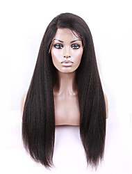 Italian Yaki African American Full Lace Human Hair Wigs Best Glueless Brazilian Virgin Kinky Straight Wigs