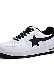 Femme-Décontracté-Noir / Blanc / Bleu royal-Talon Plat-Confort-Sneakers-Polyuréthane