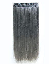 Clip In Hair Extensions 24inch 60cm 120g 5clips Long Straight Synthetic Hair Clip in Synthetic Hair Extension