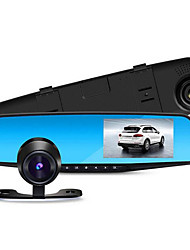 a 4,3 polegadas espelho retrovisor tacógrafo tela única lente HD opcional 1080p dupla câmera dupla
