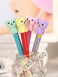 Cartoon Cute Teddy Bear Head Automatic Pencil